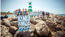 A demonstration near Tel-Aviv for a clean sea, May 2016