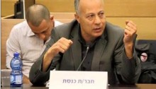 Hadash MK Abdallah Abu Ma'aruf (Joint List) during the Knesset Interior and Environmental Protection Committee meeting, Sunday April 2