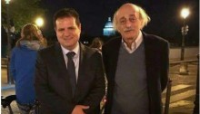 MK Ayman Odeh with Walid Jumblatt in Paris, last Saturday, April 1