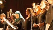 Israeli-Palestinian choir perform in the last year's Israeli-Palestinian Memorial Day Ceremony held in Tel Aviv