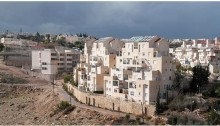 The Israeli settlement of Ma'ale Adumim located east of Jerusalem, deep in the heart of in the occupied West Bank