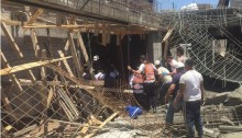 Four workers were injured in a construction site accident on June 1 in Ganei Tikva.