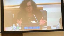 MK Aida Touma-Sliman during her speech at the UN forum