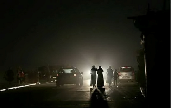 Nighttime power-out in Gaza