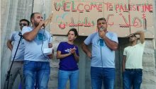 """Welcome to Palestine"" – Speeches at the end of Palestinian-Israeli march on Friday"