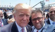 MK Oren Hazan, Likud, snaps a photograph with President Donald Trump, May 22, 2017.