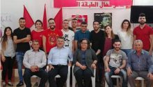 MKs Jabareen and Touma-Sliman at the Communist Party club in Umm al-Fahem