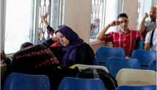Palestinians waiting in the past at the now totally closed Rafah Crossing