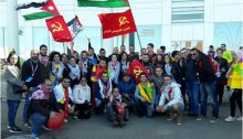 Young communists from Israel and Jordan during the 19th World Festival of Youth and Students