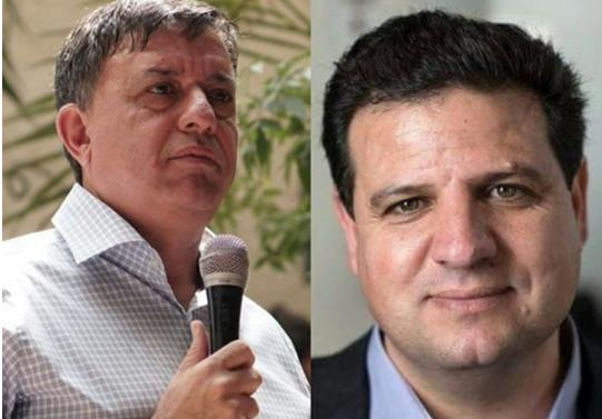 Labor Party chair Avi Gabbay and Joint List Chairman MK Ayman Odeh