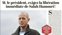 Salah Hamouri, a Palestinian-French political activist currently incarcerated in an Israeli prison, appears in a front page article in L'Humanite, the newspaper of the French Communist Party, calling for his immediate release.
