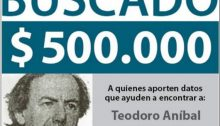 """500.000 peso reward for anyone providing information leading to the arrest of Teodoro Aníbal GAUTO"" who has been peacefully residing in Israel since 2003."