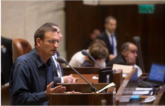 MK Dov Khenin during the Knesset debate
