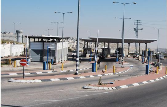 Hizme checkpoint near Jerusalem