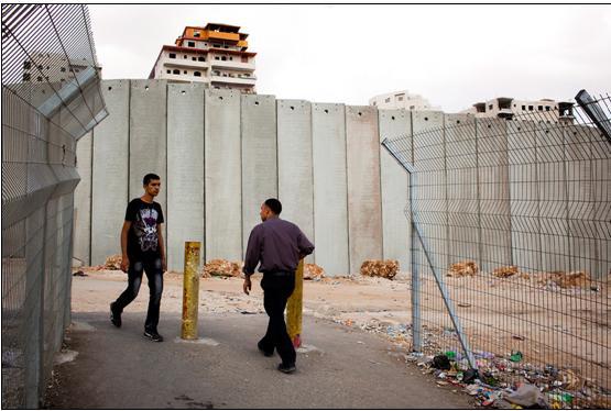 The Shuafat refugee camp in East Jerusalem