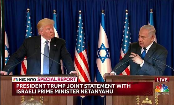 US President Donald Trump with Israeli PM Benjamin Netanyahu
