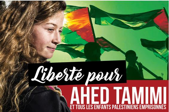 """""""Free Ahed Tamimi and all imprisoned Palestinian minors"""""""