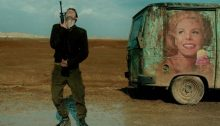 A frame from the film Foxtrot