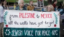 Jewish Voice for Peace demonstrators at the UN Headquarters in New York, September 2017