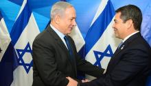 PM Benjamin Netanyahu and President Hernández