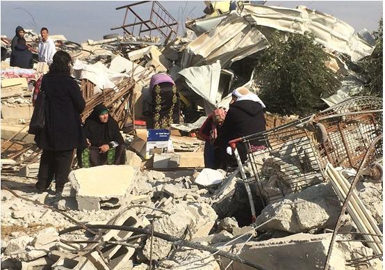 House demolition at Umm al-Hiran, January 2017