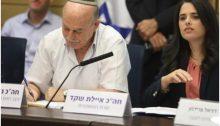 MK Nissan Slomiansky and Justice Minister Ayelet Shaked