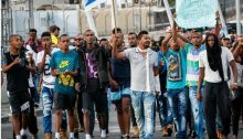Ethiopian Israeli's demonstrate against police brutality and discrimination.