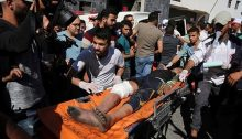 The body of Ahmad Al-Shawa, 24, killed on May 14 by an Israeli sniper