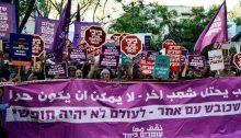 Standing Together demonstrators in Tel Aviv against the siege of Gaza and Israel's brutal repression of Palestinian demonstrators in the coastal enclave, May 15, 2018
