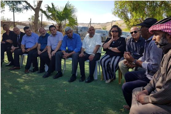 All Hadash MKs were among those who visited Khan al-Ahmar on Monday, June 11, and expressed solidarity with the Palestinians residents.