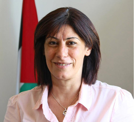 Palestinian Legislative Council member Khalida Jarrar whose administrative detention was extended for a third consecutive six month period last week.