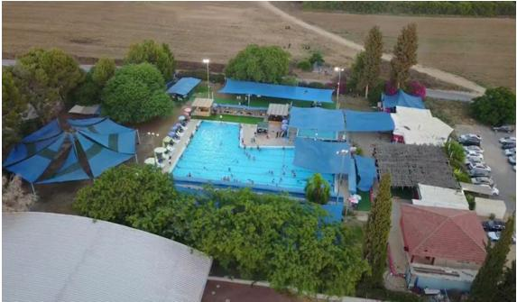 The swimming pool in the community of Mabu'im that enforces a policy of separate hours for Arabs and Jews