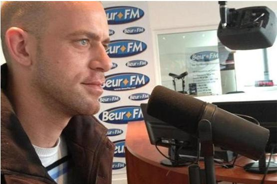 Attorney Salah Hamouri during an interview on Radio Beur in Paris