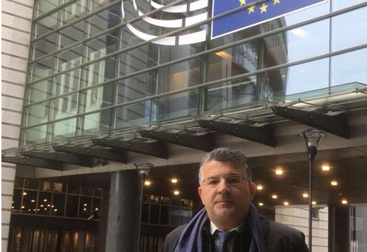MK Yousef Jabareen during a visit to the European Parliament, March 2018
