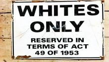 South African Apartheid era notice.