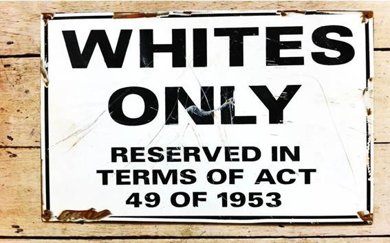 South African Apartheid era notice.