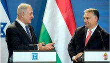 Prime Minister Benjamin Netanyahu and his Hungarian counterpart Viktor Orban during a joint press conference they held at the parliament in Budapest on Monday of this week, July 18, 2017