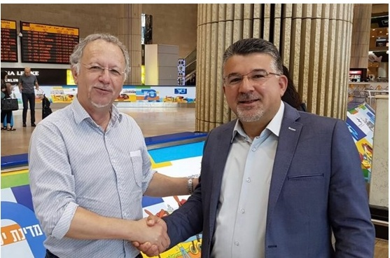 UN Special Rapporteur on Minority Issues, Fernand de Varennes, left, and head of the Joint List's International Relations, Hadash MK Yousef Jabareen