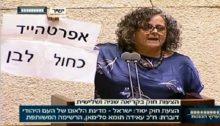 "MK Touma-Sliman during a debate on Nation-State law in the Knesset: ""Apartheid Israeli Style"""