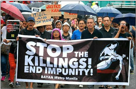 A human rights demonstration in Manila, capital of the Philippines