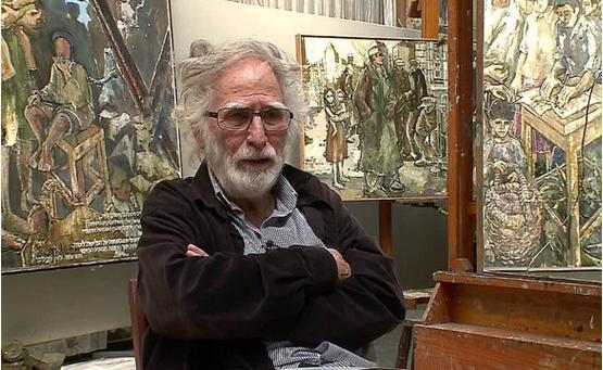Gershon Knispel in his studio in São Paulo
