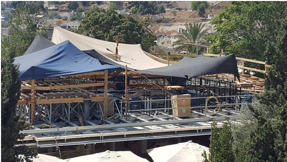 """""""City of David"""" construction works in Silwan, occupied East Jerusalem"""