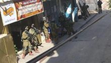 Israeli soldiers in the al-Jalazun refugee camp