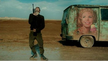 Footage from the film prize winning Israeli film Foxtrot which Culture Minister Miri Regev severely criticized last year