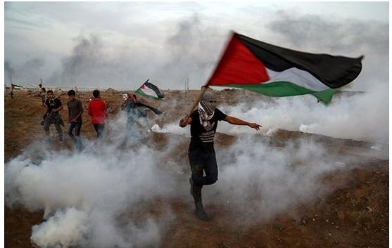 Demonstrators in the Gaza Strip last Friday, November 9