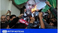Gazans celebrating after the Lieberman resignation