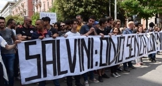 """""""Salvini Out!"""" - A demonstration in the Italian city of Foggia"""