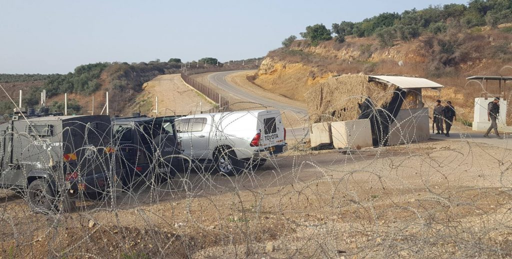 A military checkpoint along Route 4370 opened by Israel this week which is the first completed link in its planned Ring Road that will encompass Jerusalem from the east.
