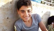 """Abdel Mohammed Saleh, the 14-year-old Palestinian teenager who died on Monday from gunshot wounds sustained in last Friday's """"Great March of Return"""" protests in Gaza"""