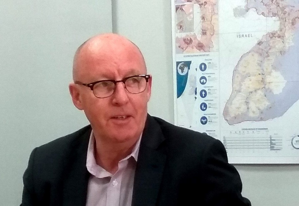 The UN Humanitarian Coordinator for the occupied Palestinian territory, Jamie McGoldrick